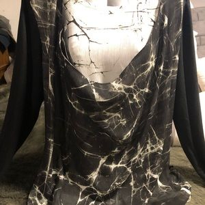 Marbled Chiffon Blouse by Simply Vera